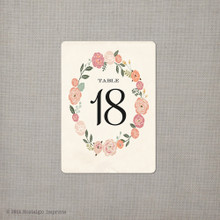 Table Numbers - Floral Wreath 2 (tn0003)