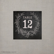 Chalkboard Wreath Table Numbers (tn0001)