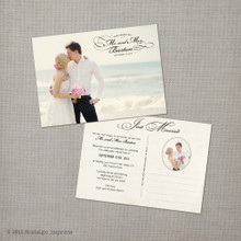 Christina - 5x7 Vintage Wedding Announcement Card