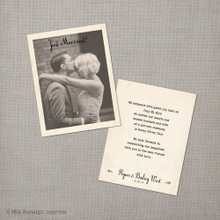 Bailey - Vintage Wedding Announcement Card