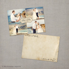Denise 1 - 5x7 Vintage Wedding Thank You Card Cards