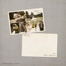Adrianna - 4x6 Vintage Wedding Thank You Card Cards