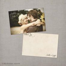 Arabella - 4x6 Vintage Wedding Thank You Card