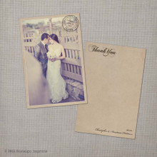 Anastasia - 4x6 Vintage Wedding Thank You Card Cards