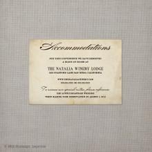 Eliana - 3.5x5 Wedding Invitation Accommodations Card
