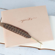 Elegant Leather Guestbook color 1