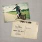 Vintage Photo Save the Date Postcard Card Rose - 4x6 Vintage Photo Save the Date Postcard