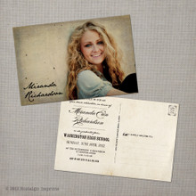 Miranda - 4x6  Vintage Graduation Invitation Announcement card