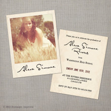 Alexa - 4.25x5.5  Vintage Graduation Invitation Announcement