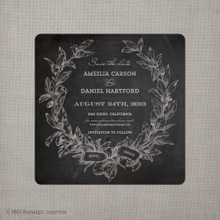 Amelia - 5.25x5.25 Chalkboard Save the Date Card