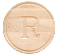 "Somerset Round Maple 10.5"" Personalized Cutting Board"