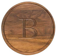 Somerset Round Walnut Personalized Cutting Board