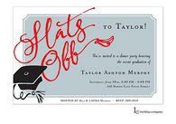 Hats Off Graduation Invitation