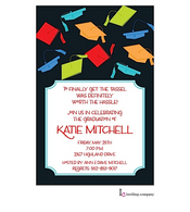 Cap Jumble Graduation Invitation