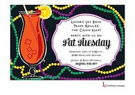 Hurricane Mardi Gras Party Invitation