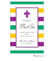 Simple Fleur Mardi Gras Party Invitation