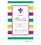 Simple Fleur Mardi Gras Party Invitation