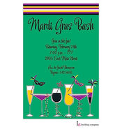 Mardi Gras Sips Mardi Gras Party Invitation