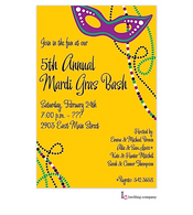 Mask Glitz Mardi Gras Party Invitation