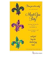 Fleur Stack Mardi Gras Party Invitation