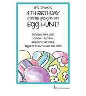 Painted Eggs Easter Holiday Party Invitation