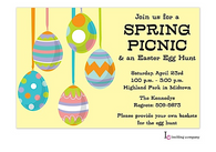 Egg Deco Easter Holiday Party Invitation