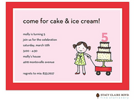 Let's Eat Cake Kids Party Invitation