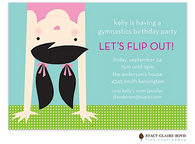 Topsy Turvy Gymnastics Kids Party Invitation