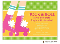 Ready To Roll Roller Skate Kids Party Invitation