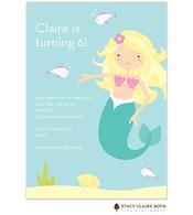 Mermaid Kids Party Invitation