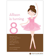 Little Ballerina Kids Party Invitation