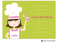 Little Chef Kids Party Invitation