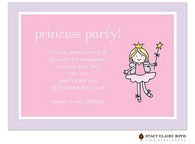 Ballerina Fairy Kids Party Invitation