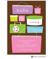 Let's Go Shopping Kids Party Invitation