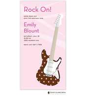 Let's Rock - Pink Kids Party Invitation