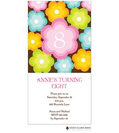 Annie's Flower Kids Party Invitation