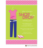 Shop Til You Drop Kids Party Invitation