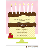 Waffle Cone Pink Kids Party Invitation