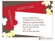 It's Movie Time Kids Party Invitation