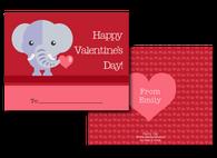 Personalized Elephant Valentine's Card
