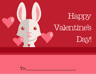 Cute Bunny Valentine's Card