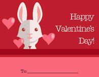 Cute Bunny Valentine's Card