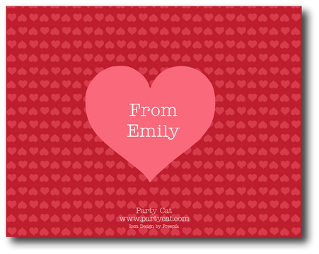 Custom Valentine's Card Back