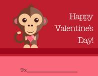 Monkey Valentine's Card