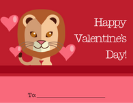 Cute Tiger Kid's Valentine's Card