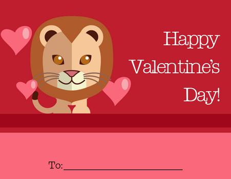 Cute Tiger Kid's Valentine's Card