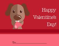 Cute Dog Kid's Valentine's Card