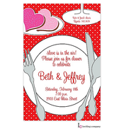 Valentines Placesetting Invitation