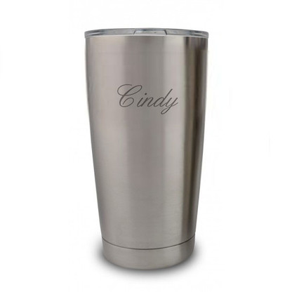 Engraved Yeti Tumbler with Script Font