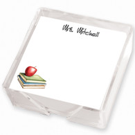 Apple Memo Square with CrystalClear Holder